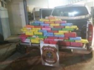 Divida em tabletes, 60 quilos de cocaína que saiu de Ponta Porã, seria entregue em São Paulo.