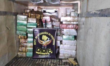 Carreta apreendida pelo DOF carregava 3,2 toneladas de maconha