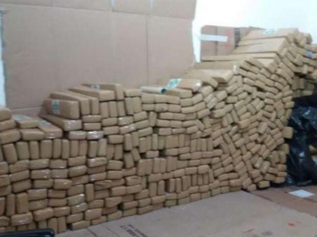 PRF apreende cerca de cinco toneladas de maconha em Dourados