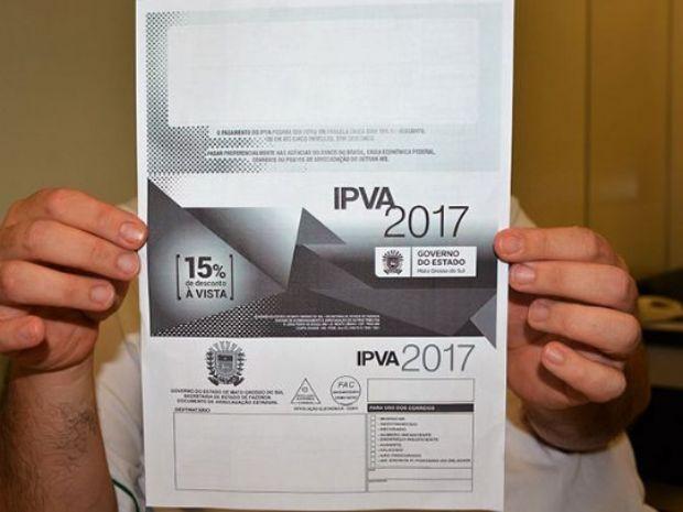 IPVA 2017 terá 15% de desconto para pagamento à vista