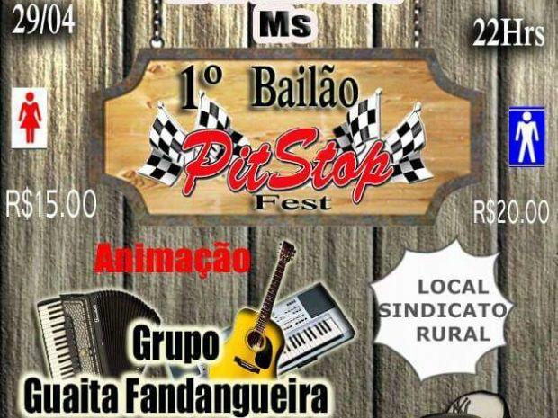 Bailão Pit Stop Fest acontece hoje em Aral Moreira