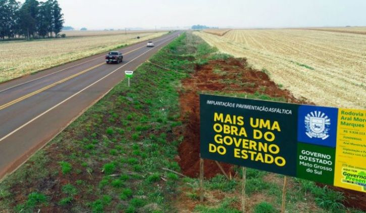 Com mais da metade da pavimentação da MS-379 concluída, Aral Moreira conta com R$ 166 milhões de investimento