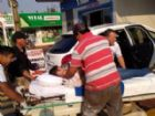 Brasileiro ferido por pistoleiro nesta manhã é socorrido ao hospital de Pedro Juan Caballero.