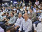 Prefeito de Ponta Porã, Hélio Peluffo e autoridades do Brasil e Paraguai durante encontro realizado nesta terça-feira na capital.