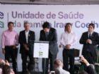 Ministro Luiz Henrique Mandetta durante evento na UBS Iracy Coelho nesta segunda-feira (22).