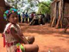 Criança Guarani-Kaiowá da comunidade Guayviry, em Aral Moreira.