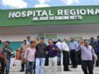 Vereadores de Aral Moreira durante o ato de entrega da reforma do Hospital Regional.
