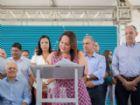 Momento que a prefeita Márcia Marques assinava o termo de cooperação para atendimento na área da saúde de média e alta complexidade.