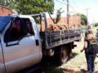 Caminhão que Zenivaldo Martins Couto, 46 anos e Marcus Vinicius Elias Pereira estavam.