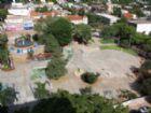 Vista da cidade de Antonio João na fronteira de Mato Grosso do Sul com o Paraguai.