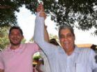 Prefeito de Costa Rica, Waldeli Rosa, ao lado do ex-governador André Puccinelli.