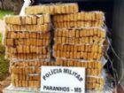 A droga estava dividida em 481 tabletes na carroceria do veículo.