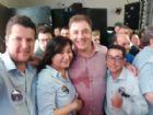 Vereadores de Aral Moreira durante lançamento da candidatura a deputado estadual de Neno Razuk.