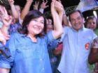 Délia Razuk e o vice Marisvaldo Zeuli em comemoração no comitê central