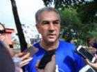 Em caminhada dos servidores, governador Reinaldo Azambuja falou sobre reunião com o ministro da Justiça