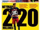 Capa do jornal Mundo Deportivo com Neymar: vínculo novo para ser assinado.