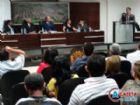 Os vereadores da legislatura passada durante sessão. Redução nos salários vai representar economia de R$ 130 mil ao ano, diz atual presidente.