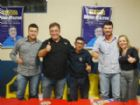 Ato político reuniu dezenas de apoiadores da candidatura de Neno Razuk, em Aral Moreira.