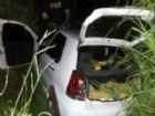 Dentro do carro foram localizados quase meia tonelada de maconha.