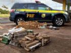 Drogas, armas e munições foram apreendidas nos dois veículos interceptados pela PRF.