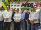 André Puccinelli durante a convenção do PMDB neste sábado.