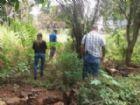 Terreno onde corpo foi encontrado pelos policiais.