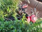 A moto foi encontrada próximo ao corpo da vítima.
