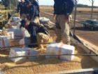 Fardos de maconha estavam escondidos em carga de soja.