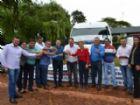 Vereadores de Aral Moreira durante a entrega dos novos veículos à Secretaria de Saúde.